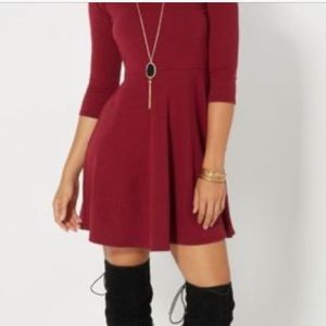 Rue 21 maroon dress